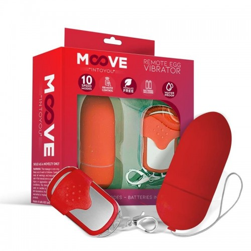 Moove Vibrating Egg With Remote Control Red